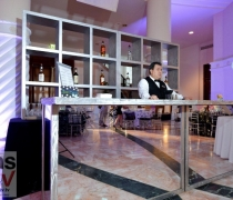 "Mirrored Bar | 60""W x 24""D x 42""H (photo shows 2 bars)"