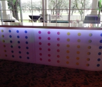 Designer Acrylic Bar | Shown as an 15' Double Bar w/ White Top