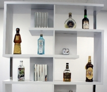 Deco Back Bar Unit - White
