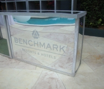 Mirrored Acrylic Branded Bar