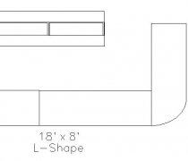 18' x 8' L Shaped Bar