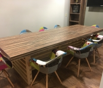 Plank Wood Dining Table
