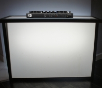 "Acrylic LED DJ Booth | 60""W x 24""D x 42""H"