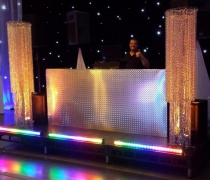 "Diamond Plate DJ Booth | 8'W x 24""D x 42""H"