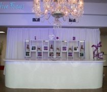 White Damask Bar - White Top