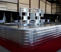 Contempo Silver Mirrored Bar