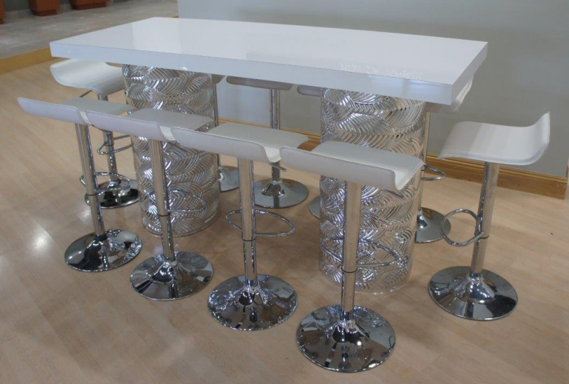 Art Deco Silver Mirrored Communal Table Archives Just Bars - High top communal table