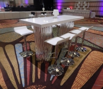 Mirrored Wave Communal High Top Table