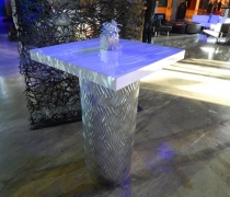 Contempo Silver Mirrored High Top Table
