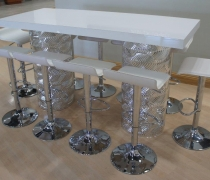Art Deco Silver High Top Communal Table