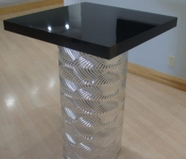 Art Deco Silver High Top Table
