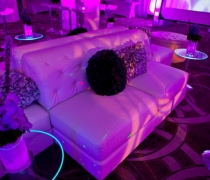 Peran White Collection with Glass LED Small Coffee Tables