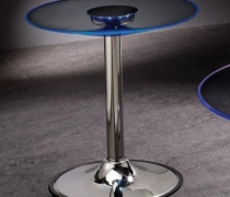Glass Round LED Small Coffee Table