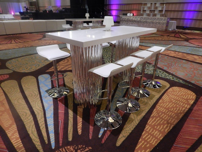 Mirrored Wave Communal High Top Table Archives Just Bars - High top communal table