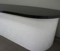 White Damask with Black Top