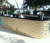Gatsby Gold Mirrored 15' Double Bar