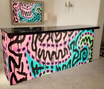 8' Designer Custom Wrapped Bar