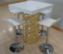 Gatsby Gold Mirrored High Top Table