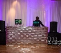 Art Deco Silver Mirrored DJ Booth