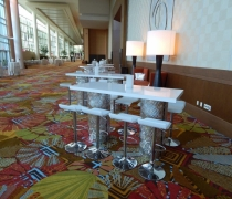Contempo Silver Mirrored Communal Tables