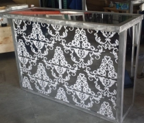 Damask Acrylic Mirrored Bar