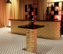 Gatsby Gold Mirrored Bar w/ Designer Gatsby High Top Tables