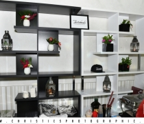 Black & White Deco Back Bar Units