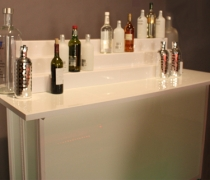 SmartBar Banquet Table with Acrylic Bottle Display