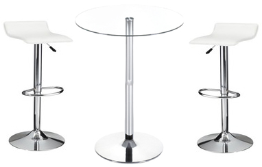 Exceptional Bella Bar Stools W/ Glass High Top