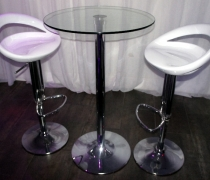 Galaxy Bar Stools w/ Glass High Top