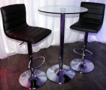 JoJo Bar Stools w/ Glass High Top